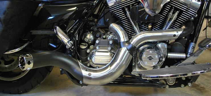 Custom Bagger Exhaust Pipes for Harley Road King, Road Glide